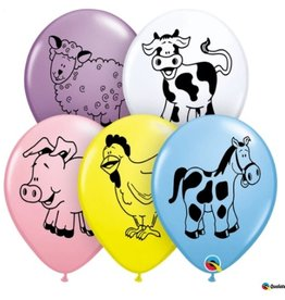 "Barn Yard Farm Animal 12"" Printed Latex Singles"
