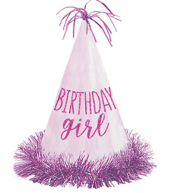Birthday Girl Glitter Party Hat