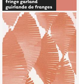 Coral Paper Fringe Garland 9ft