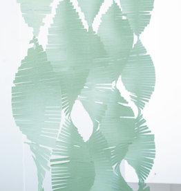Mint Paper Fringe Garland 9ft