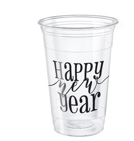 'Happy New Year' Clear Plastic Cups 8ct 16oz
