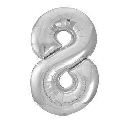 "34"" Silver Number 8 Balloon"