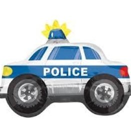 Large Police Car Foil Balloon 26""