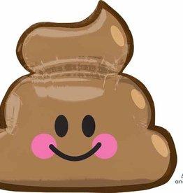 """Large 36""""  Poop Emoji Mylar"""