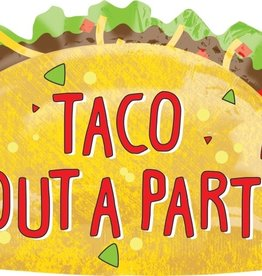 Taco Bout A Party Foil Balloon 33""