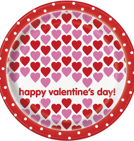 'Happy Valentines Day!' Dinner Plates 8ct