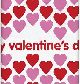 "Valentines Plastic Tablecloth 54"" x 84"""