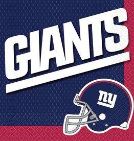 New York Giants Luncheon Napkins 16ct