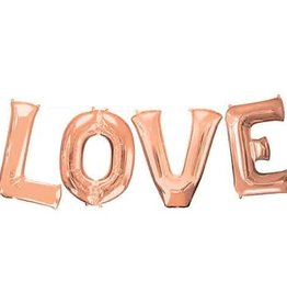 "Rose Gold 'LOVE' 35"" Mylar"