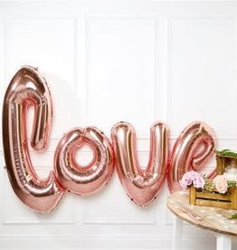 Rose Gold 'LOVE' 4.5' Helium Love Mylar