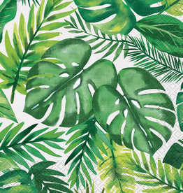 Tropical Leaf Printed Luau Luncheon Napkins 16ct