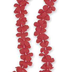 Red Plastic Flower Leis