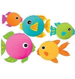 Fish Paper Lanterns 5ct