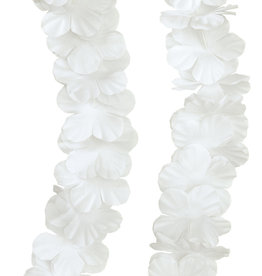 White Plastic Flower Lei