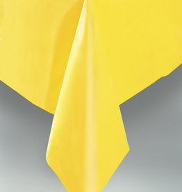 "Sunflower Yellow Plastic Rectangle Tablecloth, 54"" x 108"""