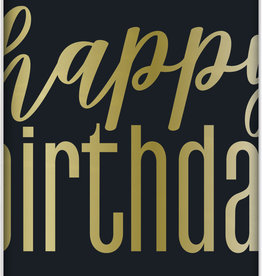 "Metallic Gold ""Happy Birthday"" Rectangular Tablecloth 54"" x 84"""