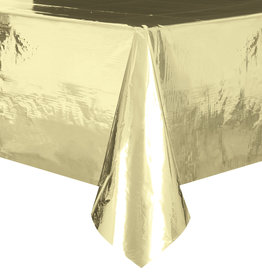 "Gold Metallic Rectangle Tablecloth, 54"" x 108"""