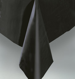 "Black Plastic Rectangle Tablecloth, 54"" x 108"""