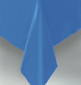 "Royal Blue Plastic Rectangle Tablecloth, 54"" x 108"""