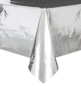 """Silver Metallic Rectangle Tablecloth, 54"""" x 108"""""""