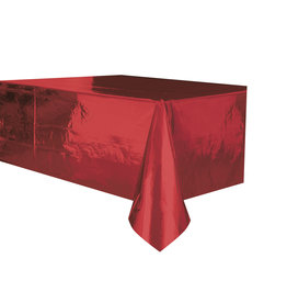 "Red Metallic Rectangle Tablecloth, 54"" x 108"""