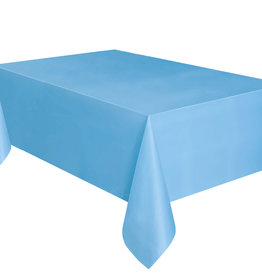 """Baby Blue Plastic Rectangle Tablecloth, 54"""" x 108"""""""