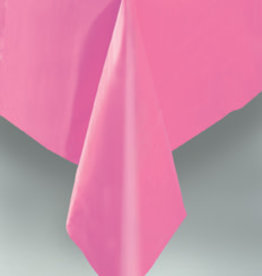"Hot Pink Plastic Rectangle Tablecloth, 54"" x 108"""