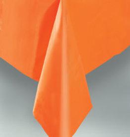 "Orange Plastic Rectangle Tablecloth, 54"" x 108"""