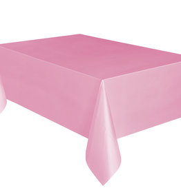 "Light Pink Plastic Rectangle Tablecloth, 54"" x 108"""