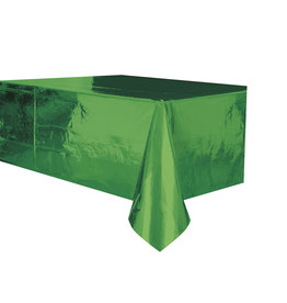 "Green Metallic Rectangle Tablecloth, 54"" x 108"""