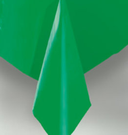 "Emerald Green Plastic Rectangle Tablecloth, 54"" x 108"""