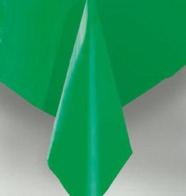 """Emerald Green Plastic Rectangle Tablecloth, 54"""" x 108"""""""