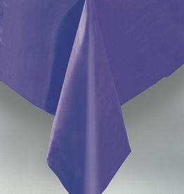 "Dark Purple Plastic Rectangle Tablecloth, 54"" x 108"""