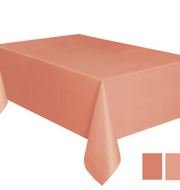 "Coral Plastic Rectangle 54"" x 108"" Tablecloth"