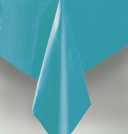 "Caribbean Teal Plastic Rectangle Tablecloth, 54"" x 108"""