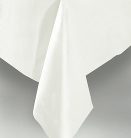 "White Plastic Rectangular Tablecloth, 54"" x 108"""
