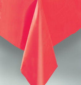 "Red Plastic Rectangle Tablecloth, 54"" x 108"""