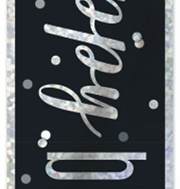 Black and Silver 'Happy Birthday Banner' 9FT