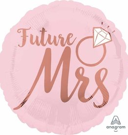 "Rose Gold 'Future Mrs' 18"" Mylar"