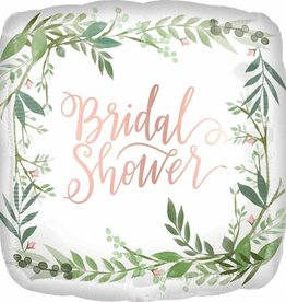 "Bridal Shower Botanical 18"" Square Mylar"