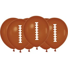 "Football 12"" Latex Balloons 6ct"