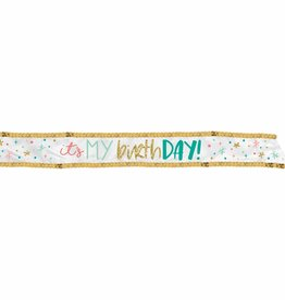 """It's my Birthday Day!"" Fabric Birthday Sash"