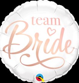 "Rose Gold and White 'Team Bride' 18"" Mylar"