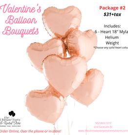 Hand Made Valentine's Balloon Bouquet #2