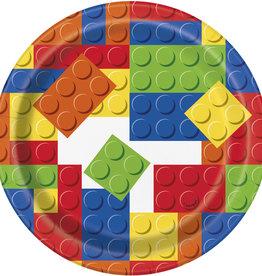 "Lego Blocks 7"" Dessert Plates 8ct"