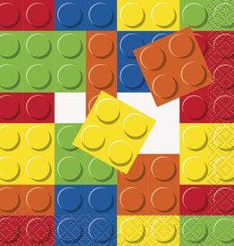 Lego Blocks Beverage Napkins 16ct