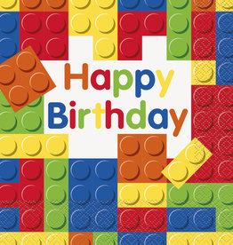 'Happy Birthday!' Lego Blocks Luncheon Napkins