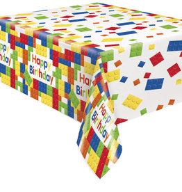 "Lego Blocks Rectagular Plastic Tablecloth 54"" x 84"""