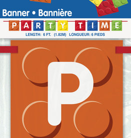 Lego 'Party Time!' Blocks Banner, 6FT