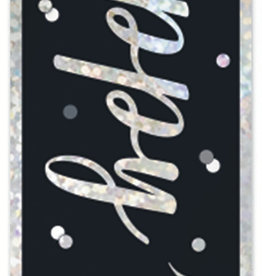 '16th' Black and Silver 9FT Birthday Banner